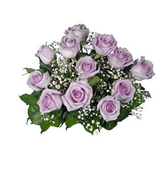 6 Lavender Long-Stem Roses-12 Lavender Long-Stem Roses