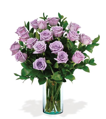 12 Lavender Long-Stem Roses-18 Lavender Long-Stem Roses