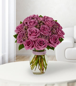 18 Purple Roses Bouquet