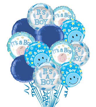 12 Baby Boy Balloons