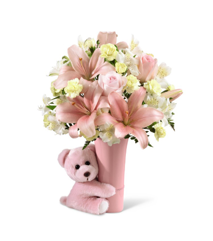 FTD® Baby Girl Big Hug® Bouquet - Greater