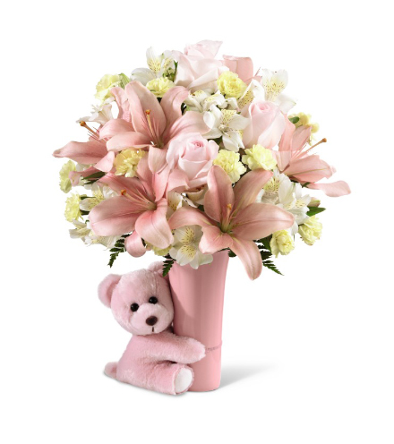 FTD® Baby Girl Big Hug® Bouquet - Greatest