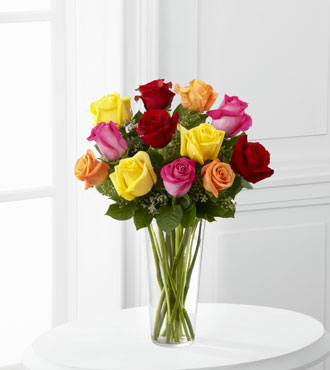 FTD® 12 Bright Spark™ Rose Bouquet