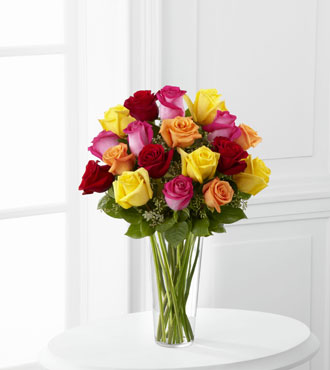 FTD® 18 Bright Spark™ Rose Bouquet