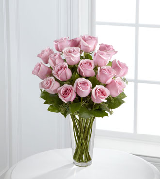 FTD® Pink Rose Bouquet-FTD® 18 Pink Rose Bouquet