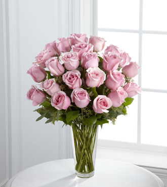FTD® Pink Rose Bouquet-FTD® 24 Pink Rose Bouquet