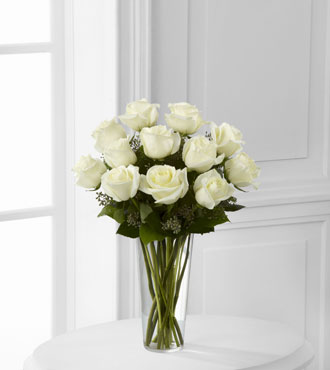 FTD® 12 White Rose Bouquet