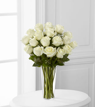 FTD® 18 White Rose Bouquet
