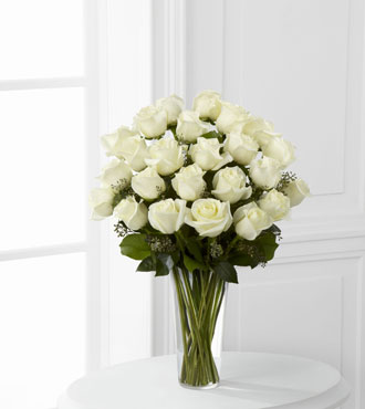 FTD® 24 White Rose Bouquet