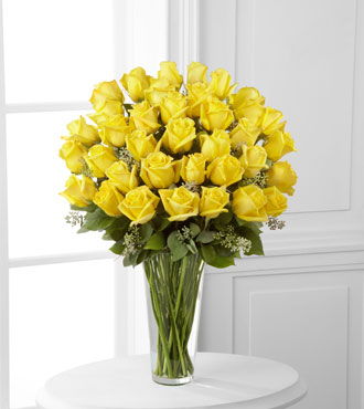 FTD® 36 Yellow Rose Bouquet - Exquisite