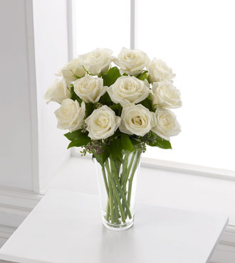 FTD® White Rose Bouquet