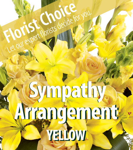 Florist Choice - Sympathy Yellow-Greater