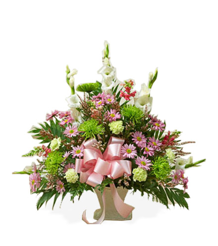 Pastel Sympathy Floor Basket - Great