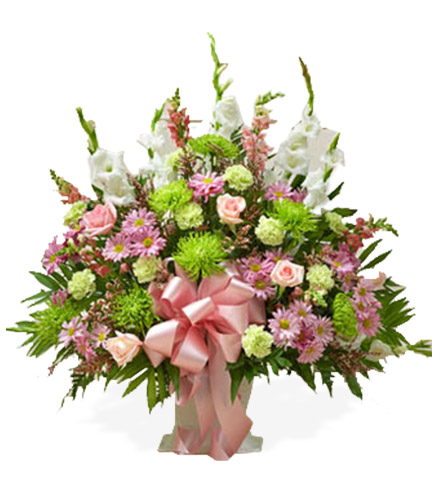 Pastel Sympathy Floor Basket - Greatest
