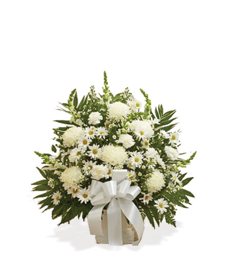 White Sympathy Floor Basket - Great