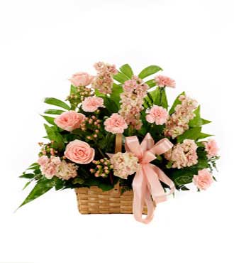 Classic Pink Sympathy Basket-Great