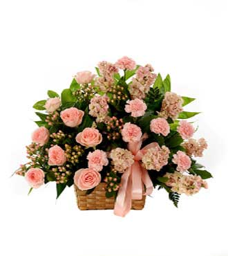 Classic Pink Sympathy Basket - Greater