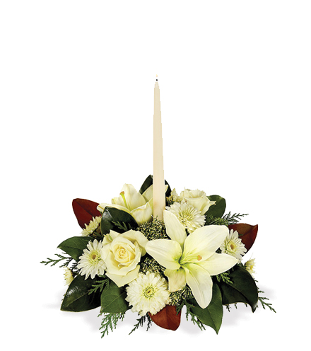 White Holiday Centerpiece - Great