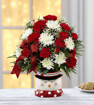 The FTD® Snowman Sensation™ Bouquet