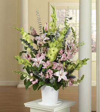 Gladiolus, Snapdragons and Alstroemeria