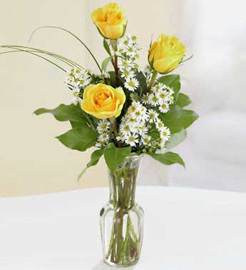 Yellow Roses - 3 Stems