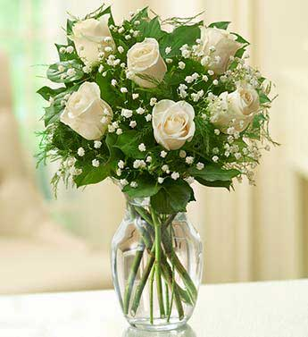White Roses - 6 Stems
