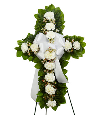 Standing Cross - White