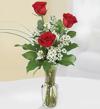 Red Roses - 3 Stems