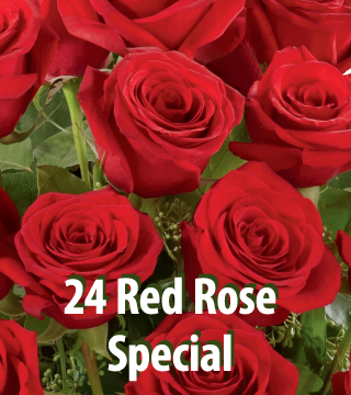 Buy 12 Red Roses Get 12 FREE
