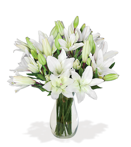 White Classic Lily Bouquet - Great