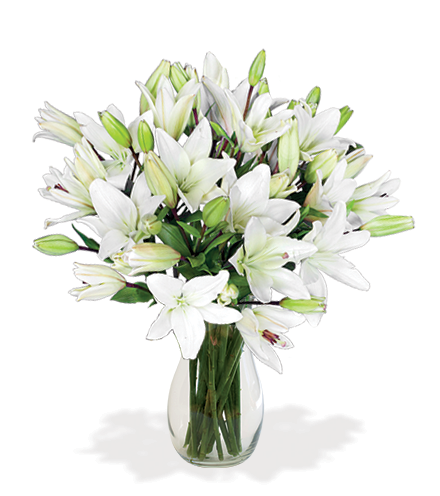 White Classic Lily Bouquet - Greater