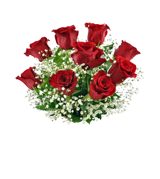 9 Red Roses with FREE Vase