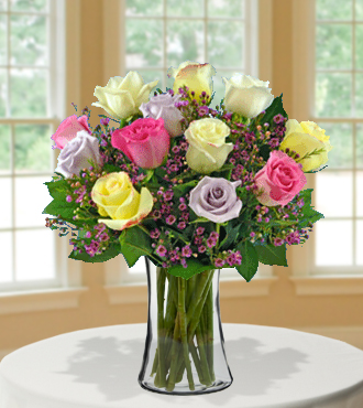 12 Pastel Long-Stem Roses From  $105