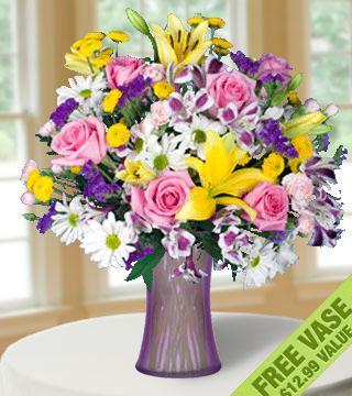 European Garden with FREE Vase