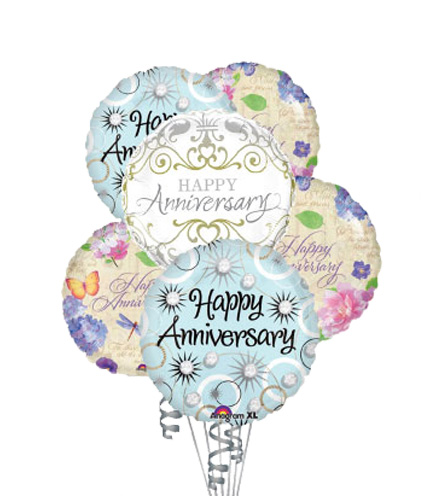 6 Anniversary Balloons