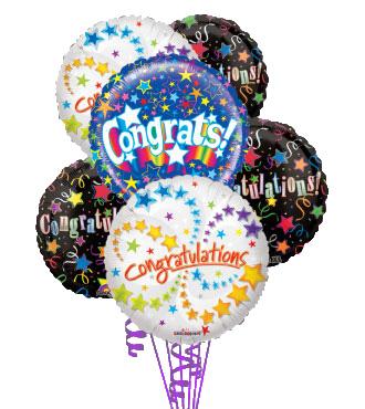 6 Congratulations Mylars