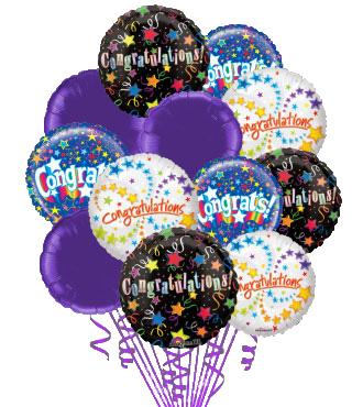 6 Congratulations Balloons
