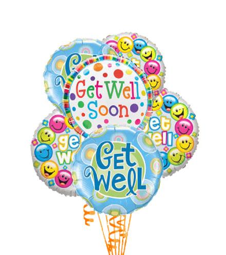 6 Get Well Balloons