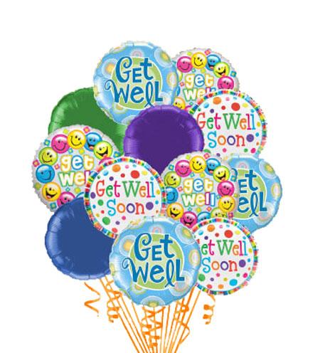 12 Get Well Balloons