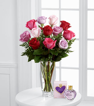 FTD® Captivating Color™  Rose Bouquet by Vera Wang with Fragrance