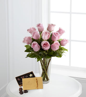 FTD® Pink Rose & Godiva® Bouquet From  $115