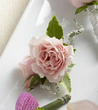 FTD® Pink Spray Rose Boutonniere