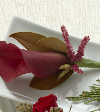 FTD® Red Calla Boutonniere From  $47