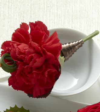 FTD® Red Carnation Boutonniere