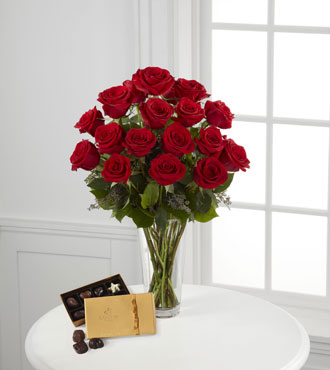 FTD® Red Rose & Godiva® Bouquet
