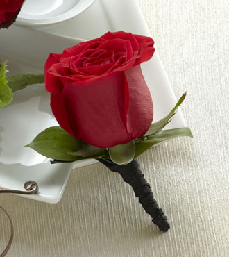 FTD® Red Rose Boutonniere