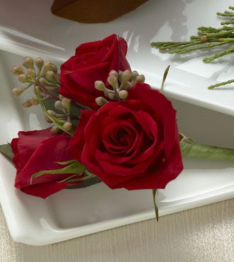 FTD® Red Spray Rose Boutonniere