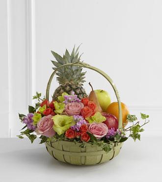 FTD® Rest in Peace™ Fruit & Flowers Basket