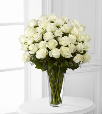 FTD® 36 White Rose Bouquet