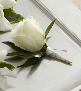 FTD® White Rose Boutonniere From  $45